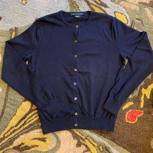 Ralph Lauren Cardigan Sweater | Large | Navy